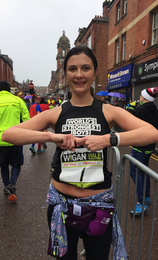 Alex Johnson completes 2017 Wigan Half Marathon
